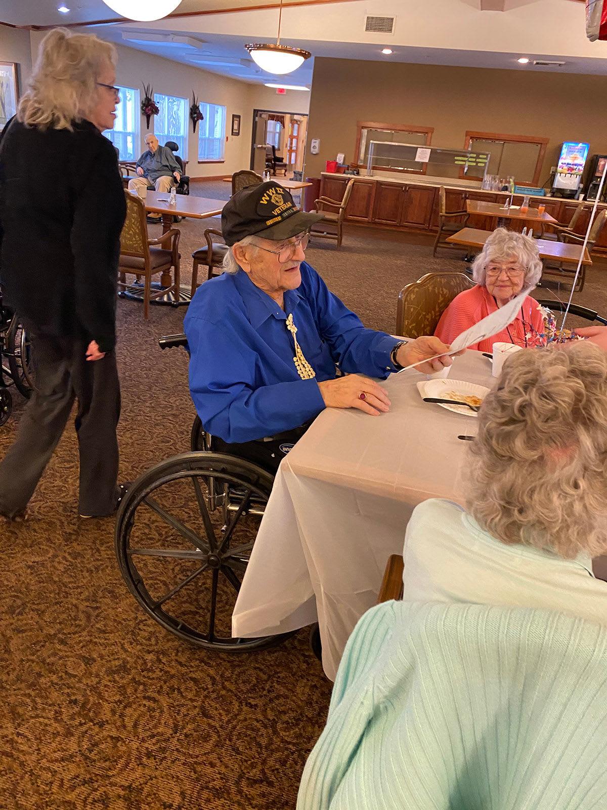 veterans celebration at Moran Vista