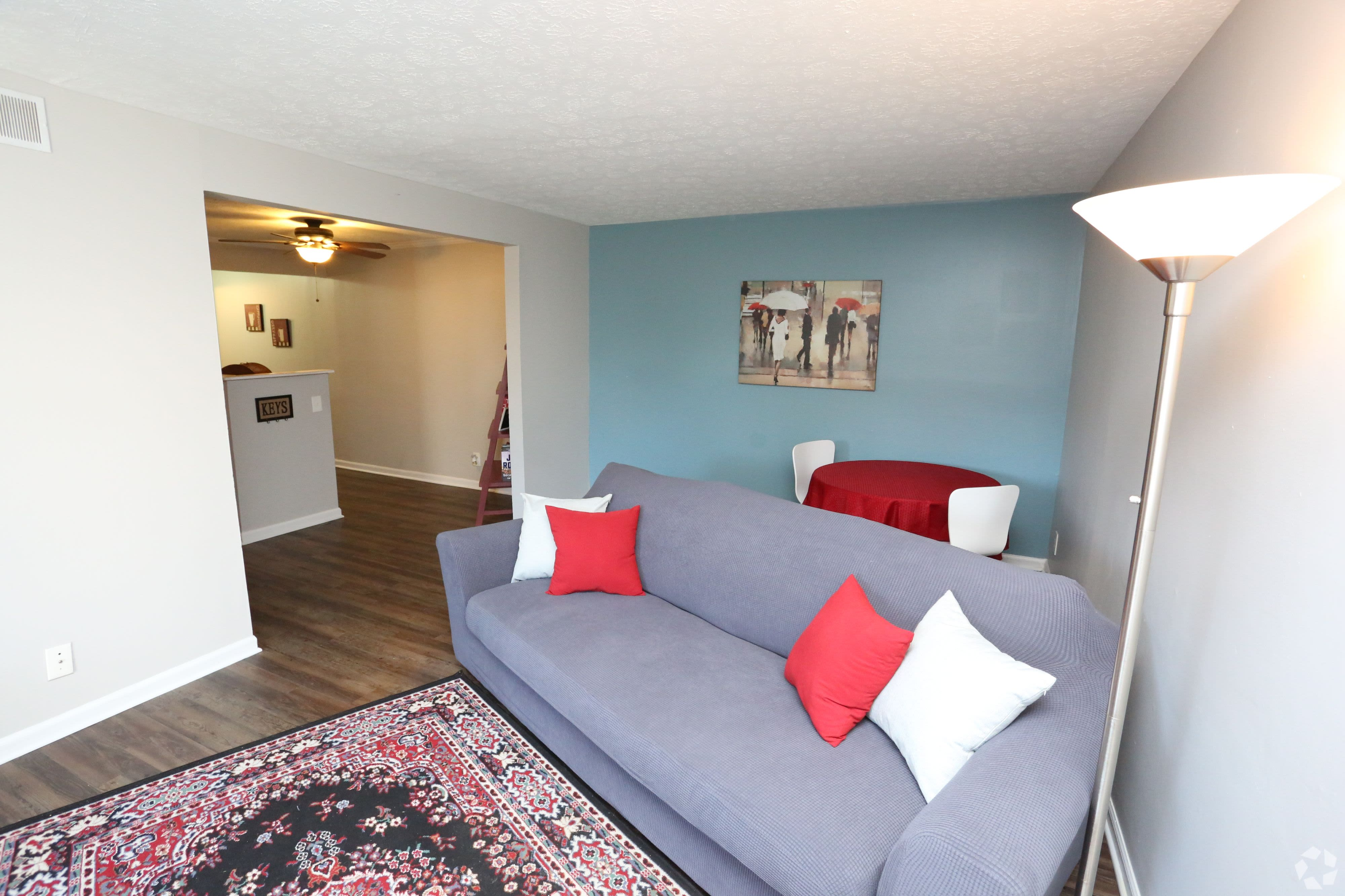 Model living room at Willowbrook Apartments in Louisville, Kentucky