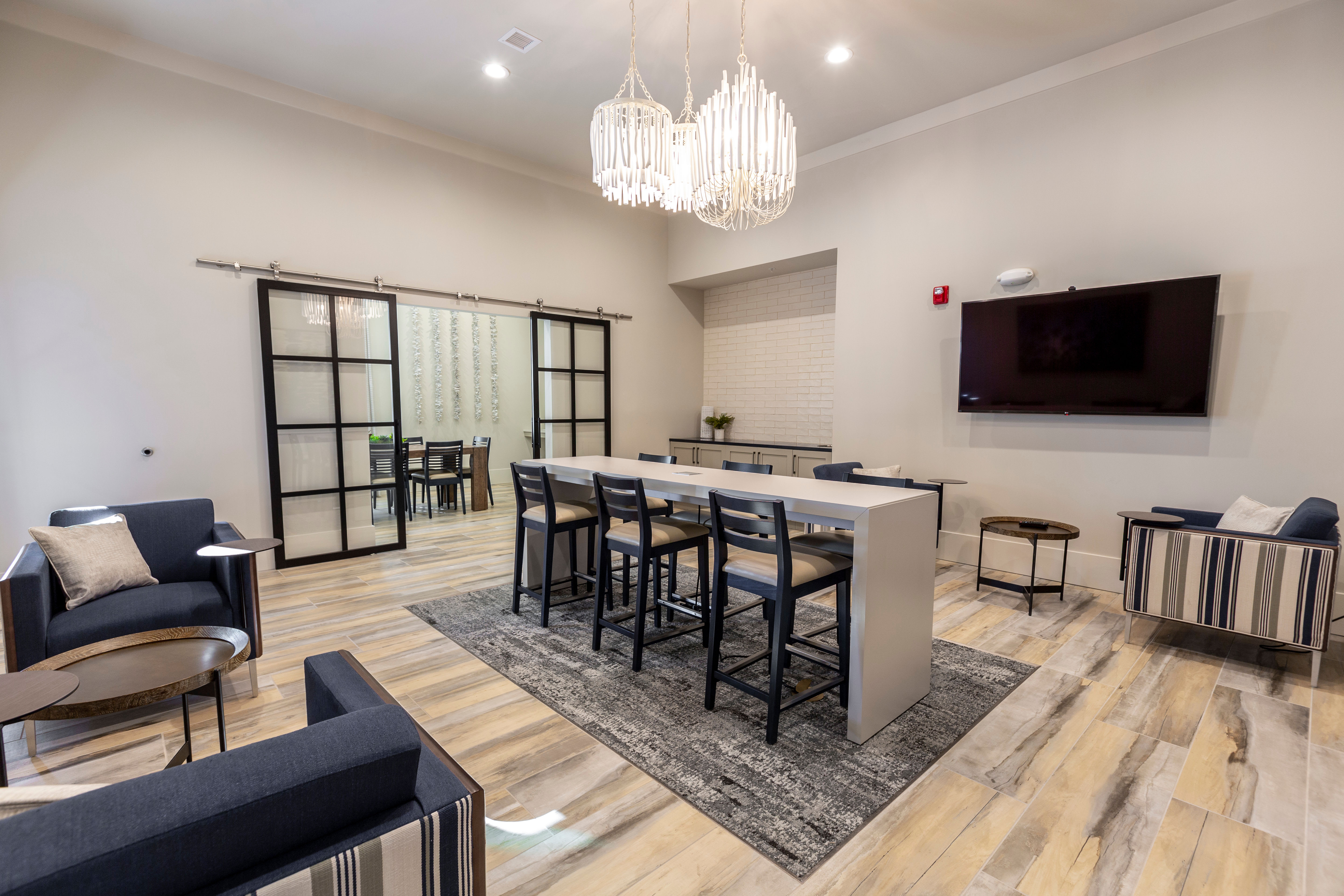 Billiards and more in the game room at Parc at Wesley Chapel in Wesley Chapel, Florida
