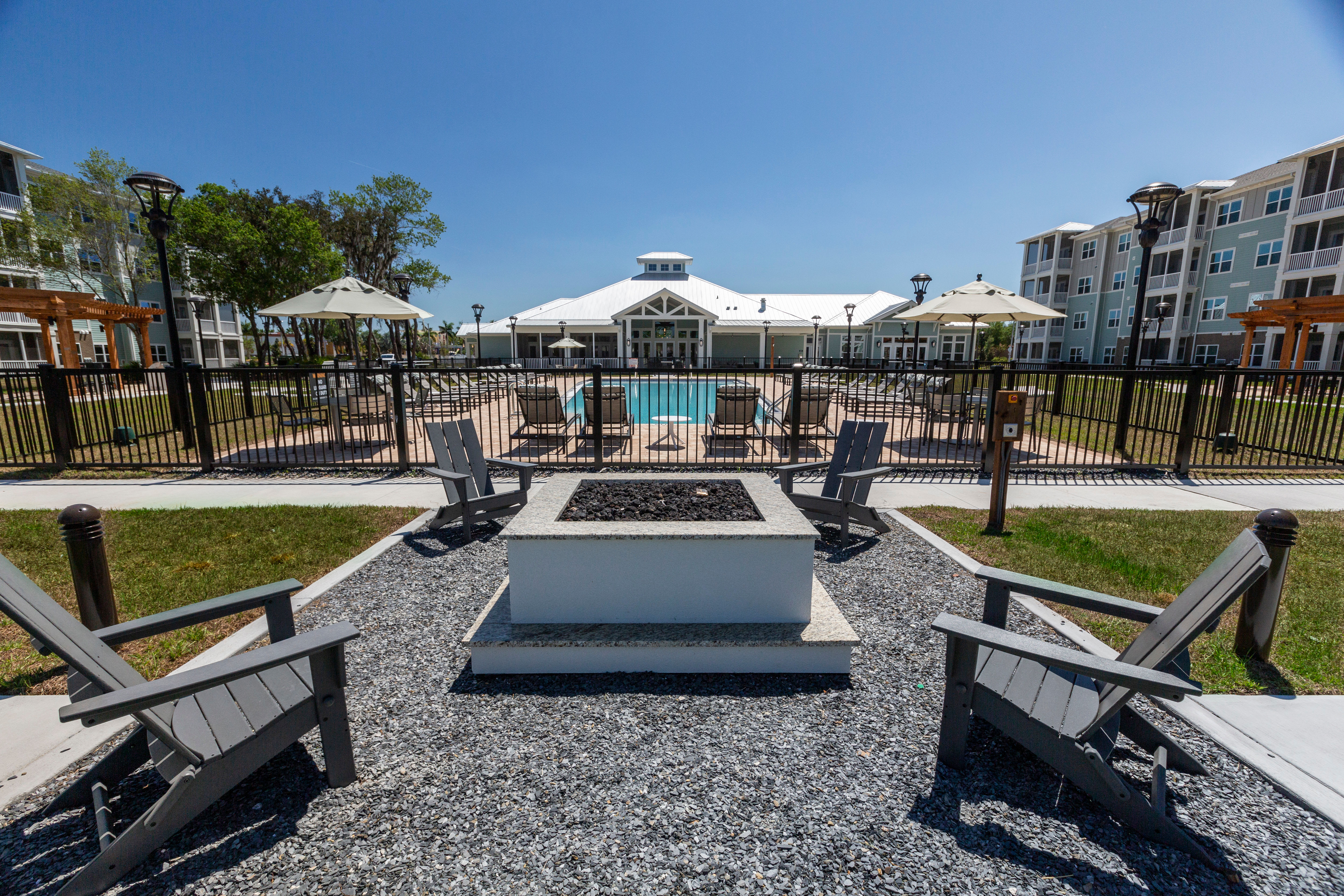 Resident clubhouse with billiards table and more at Parc at Wesley Chapel in Wesley Chapel, Florida