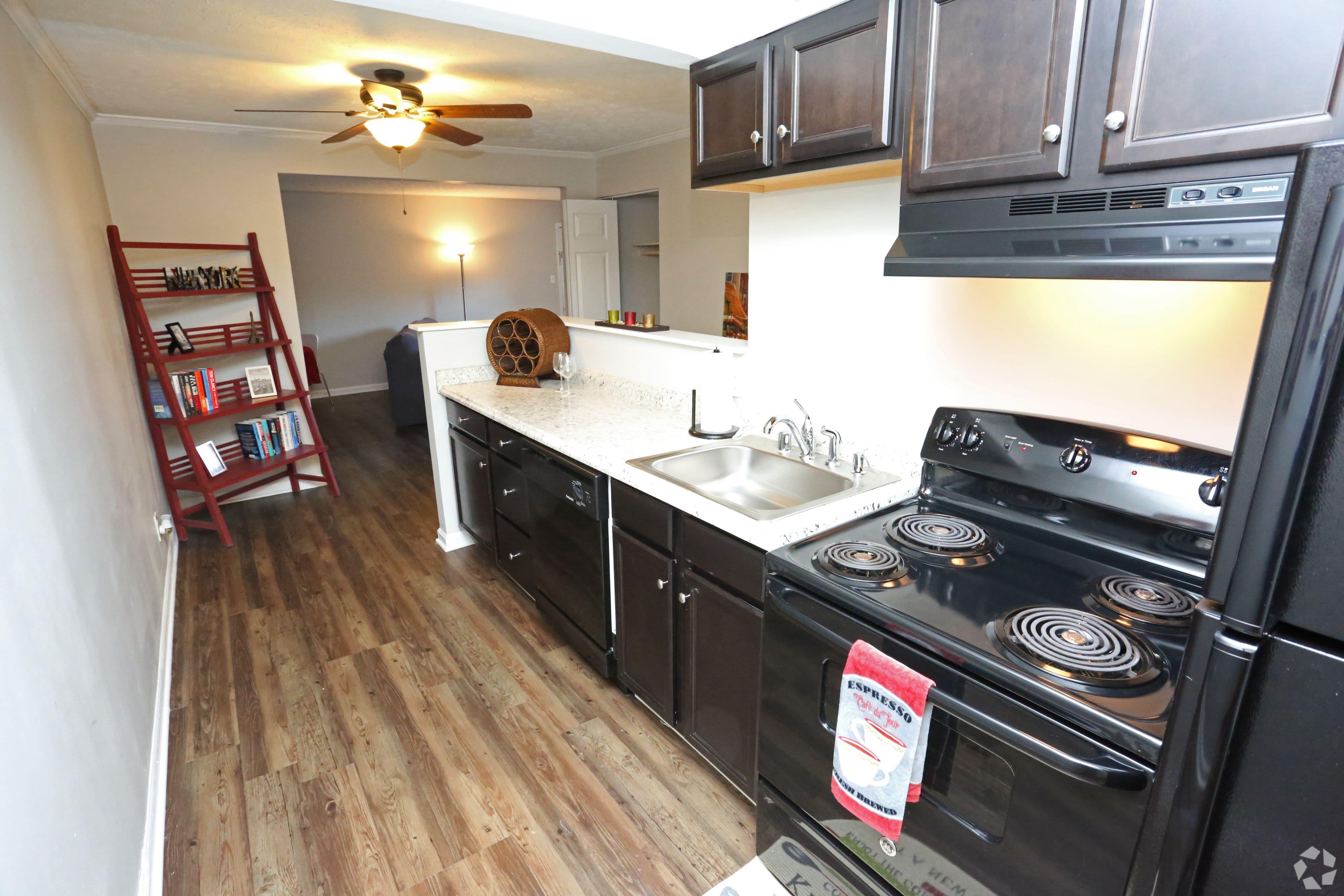 Model kitchen of Willowbrook Apartments in Louisville, Kentucky