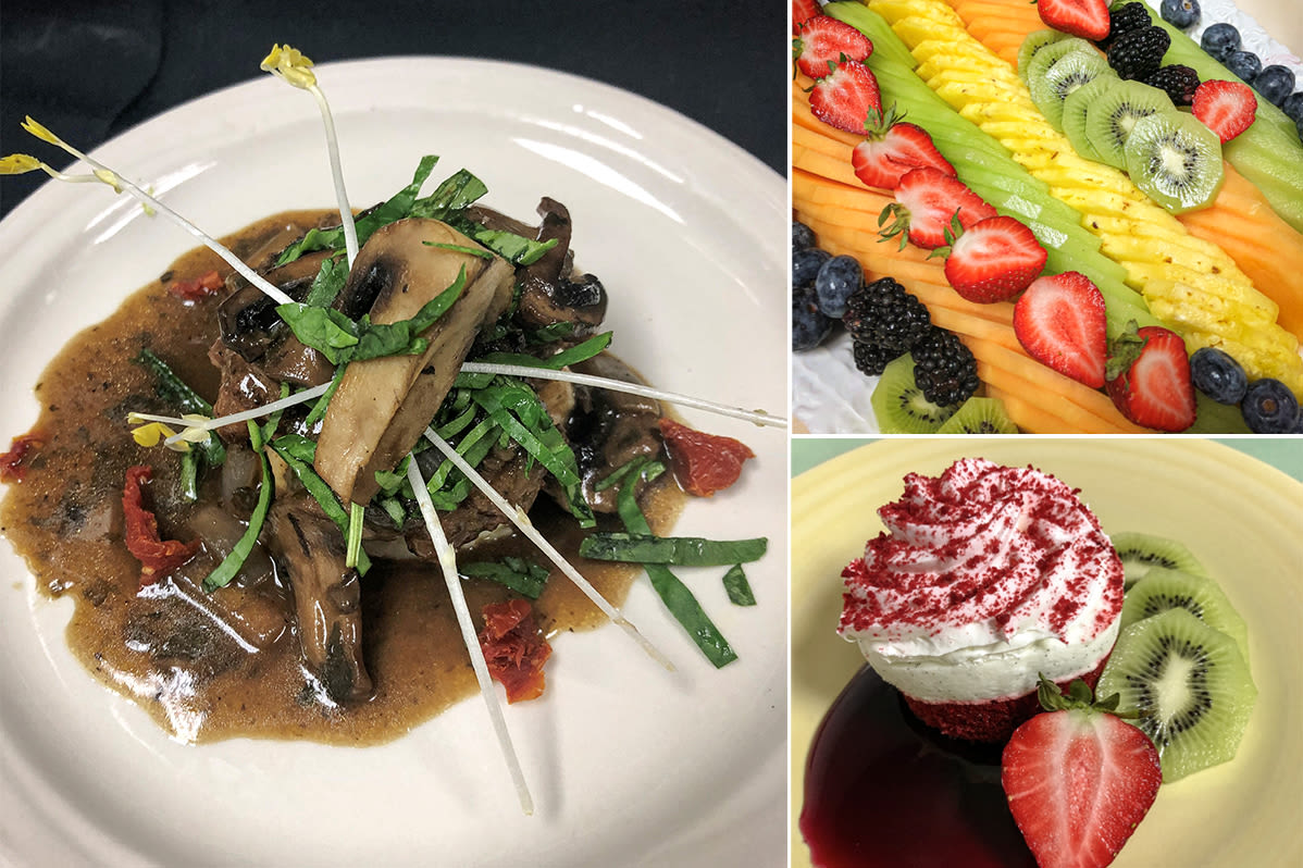 Delicious cuisine served at The Fountains of Hope in Sarasota, Florida.
