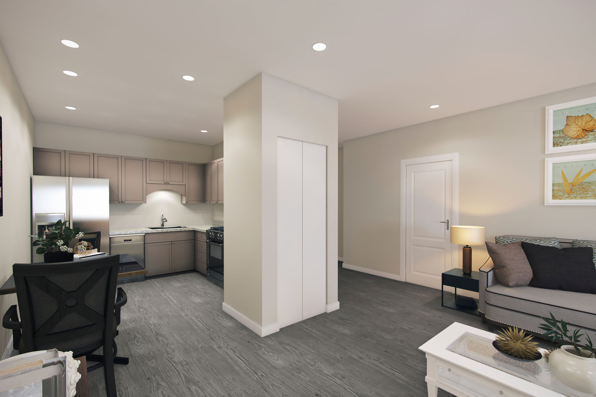 Open concept floor plan at Keystone Place at Richland Creek in O'Fallon, Illinois