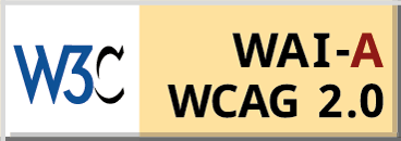 WCAG-A 2.0 Compliance badge for The '68 in San Antonio, Texas