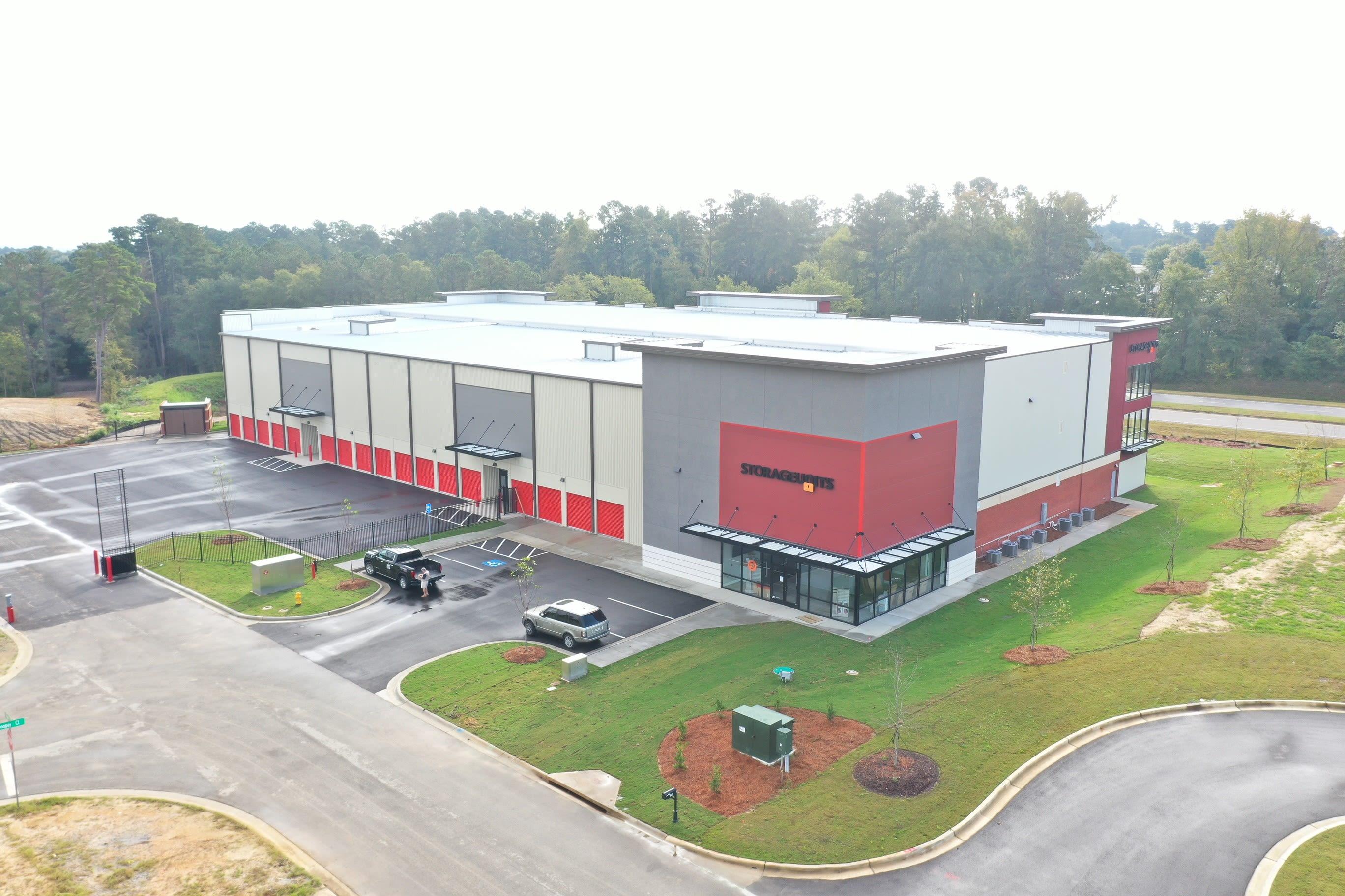 Exterior Aerial shot at Storage Units in Augusta, Georgia