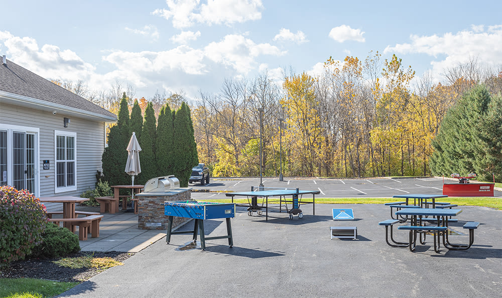 Outdoor games at Avon Commons in Avon, New York