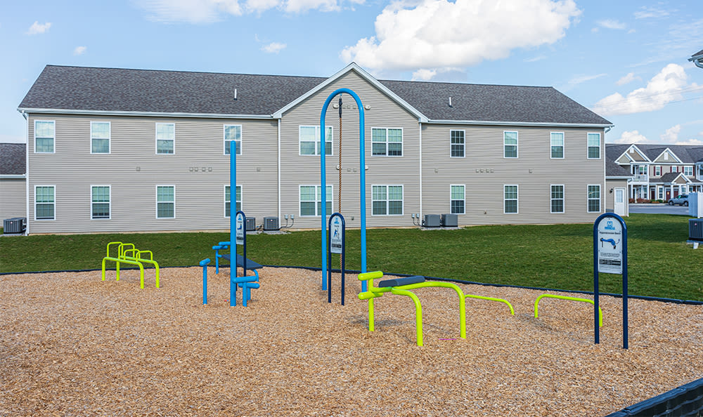 Outdoor fitness at Avon Commons in Avon, New York