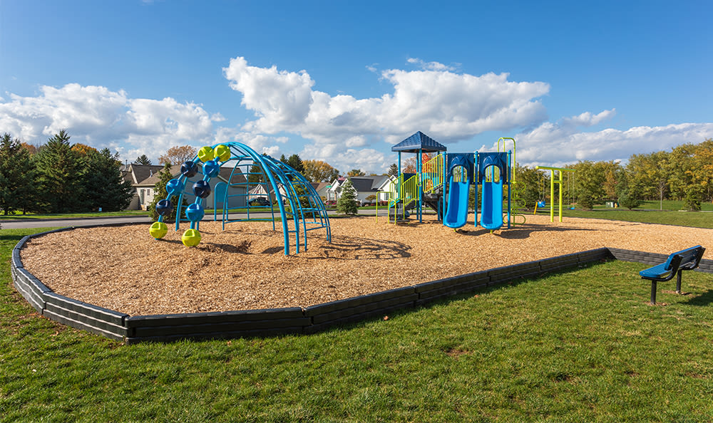 Play area at Avon Commons in Avon, New York
