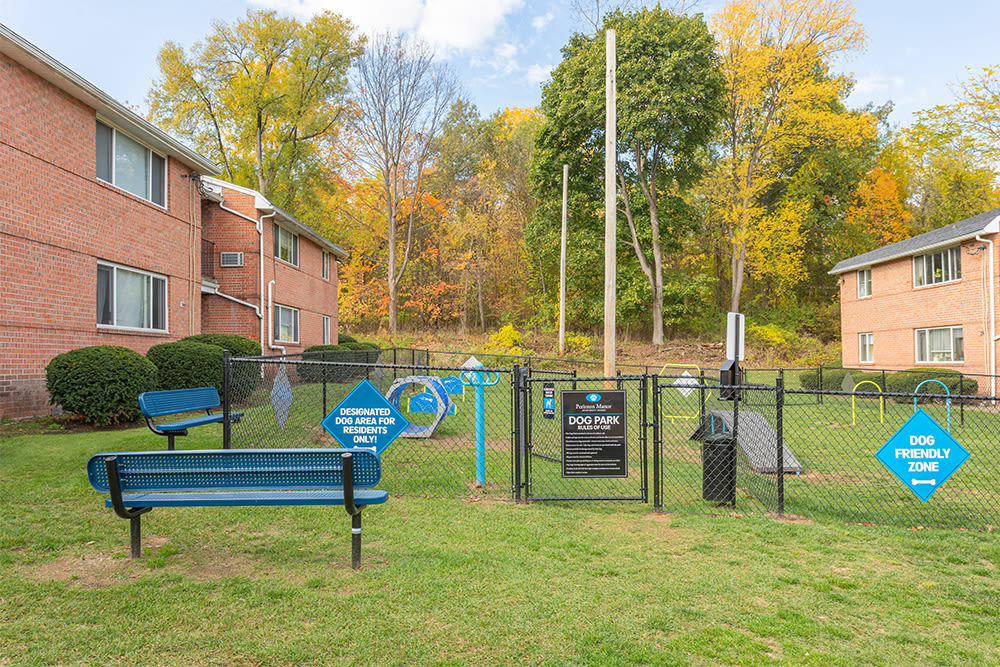 Dog park at Perinton Manor Apartments in Fairport, New York
