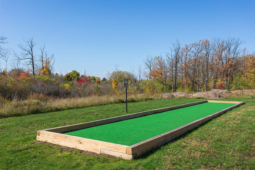 Bocce ball at Gateway Landing on the Canal in Rochester, New York