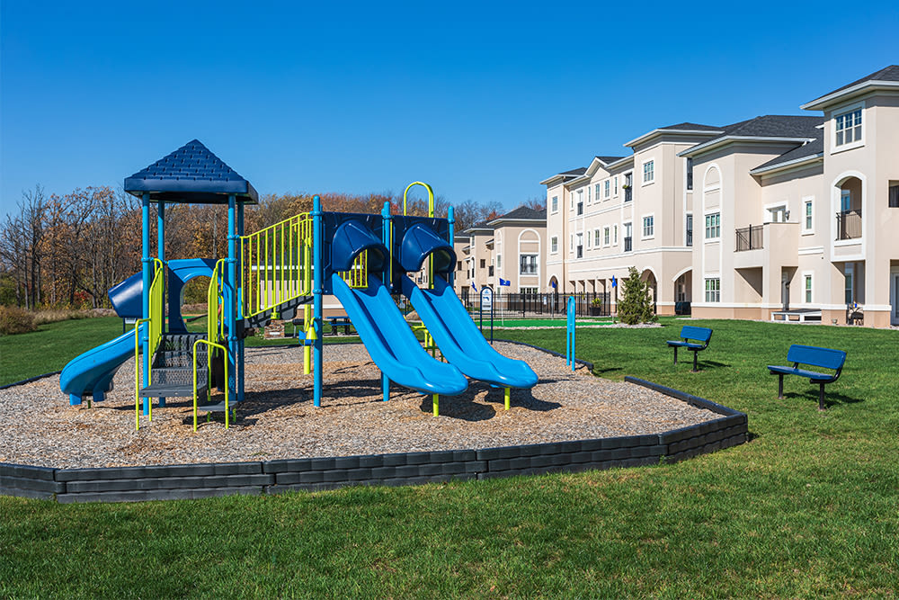 Playground at Gateway Landing on the Canal in Rochester, New York