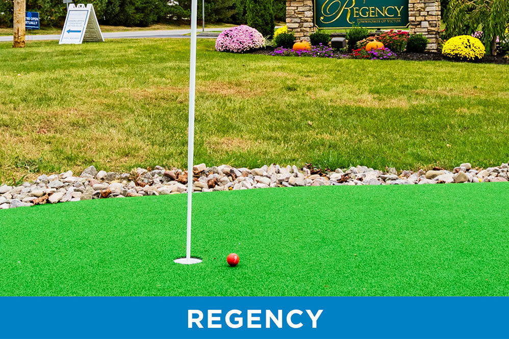 Putting green at Regency & Victor Villas Apartments in Victor, New York
