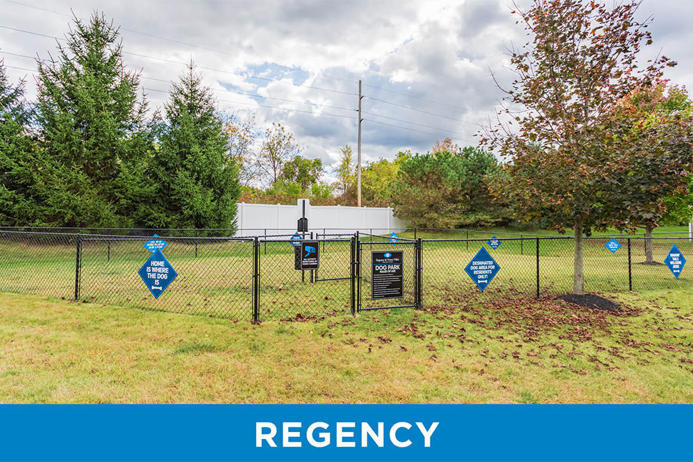 Spacious dog park Regency & Victor Villas Apartments in Victor, New York