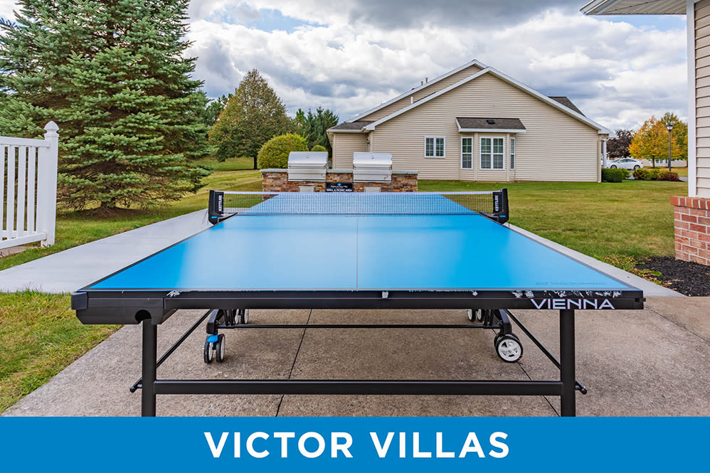 Ping-pong table at Regency & Victor Villas Apartments in Victor, New York