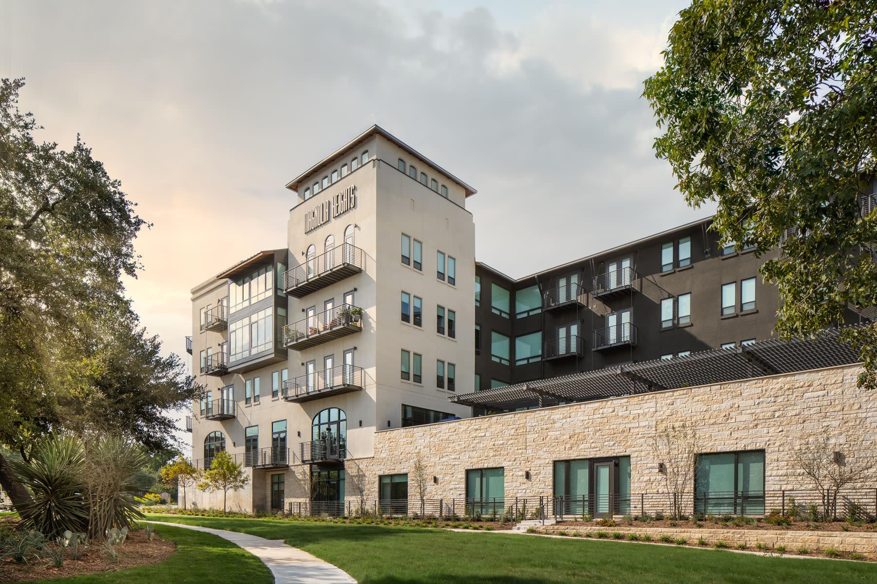 Exterior of the Magnolia Heights building in San Antonio, Texas