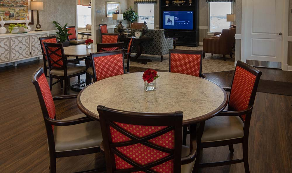 Dining is available in our Clubhouse at Field Pointe Assisted Living in Saint Joseph, Missouri