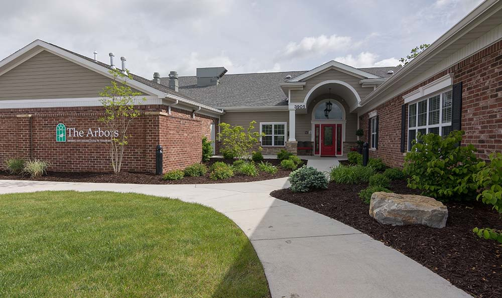 Front entrance at Field Pointe Assisted Living in Saint Joseph, Missouri