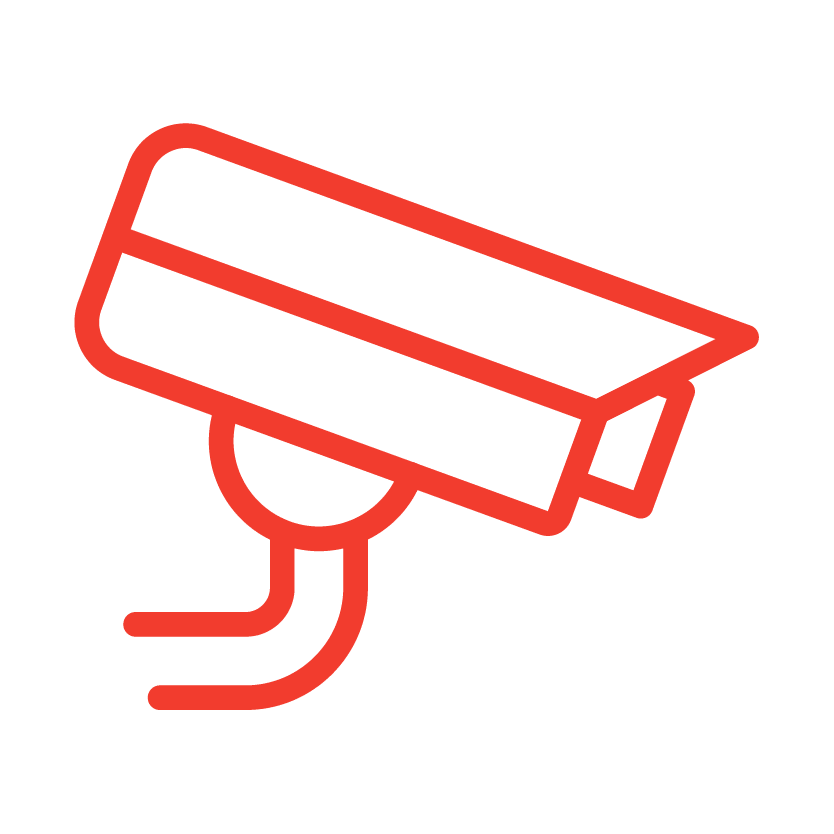 A digital surveillance icon from Red Dot Storage in Cedar Falls, Iowa