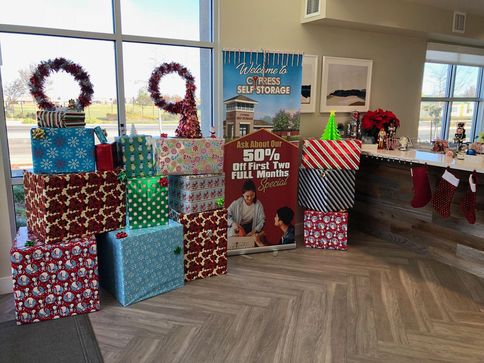 Cypress Self Storage Happy Holidays