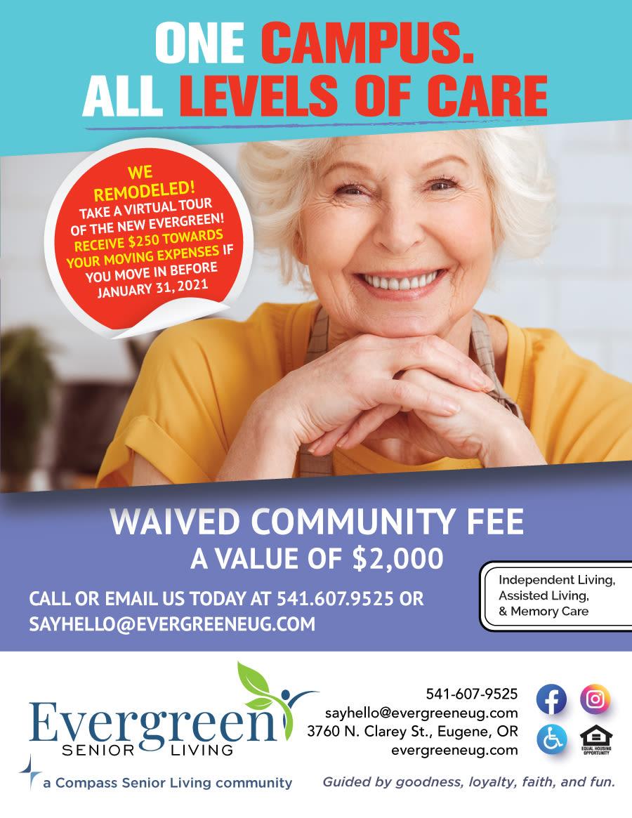 Evergreen Memory Care flyer
