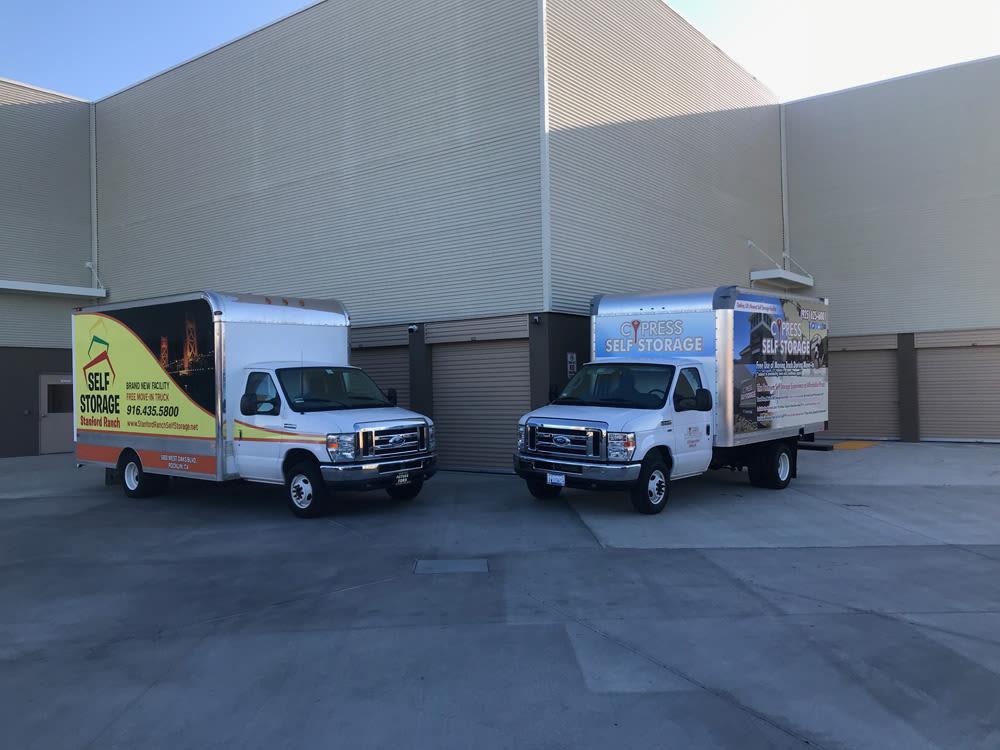 Cypress Self Storage of Oakley Moving Trucks