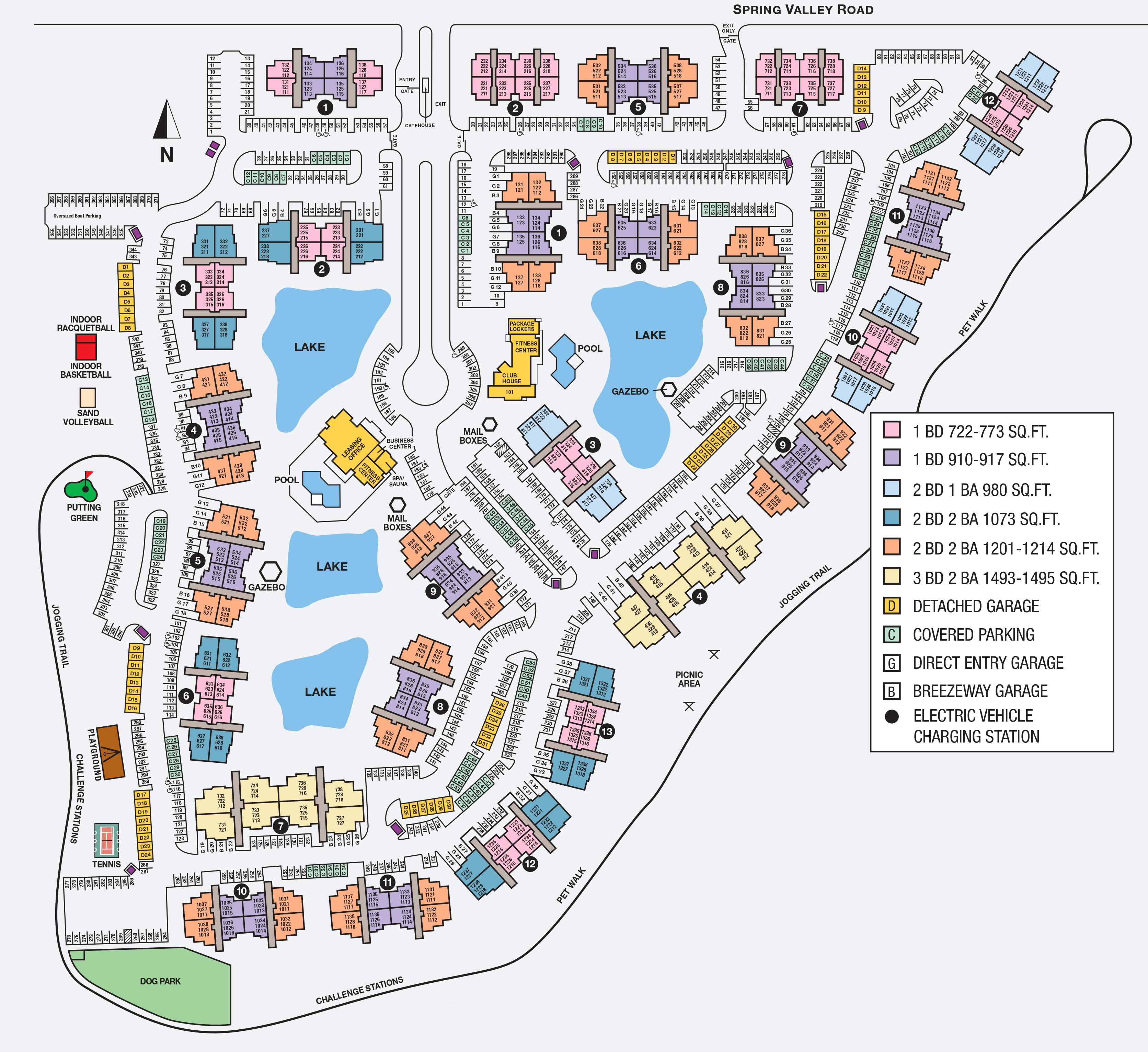 Site map of Lakeview at Parkside in Farmers Branch, TX