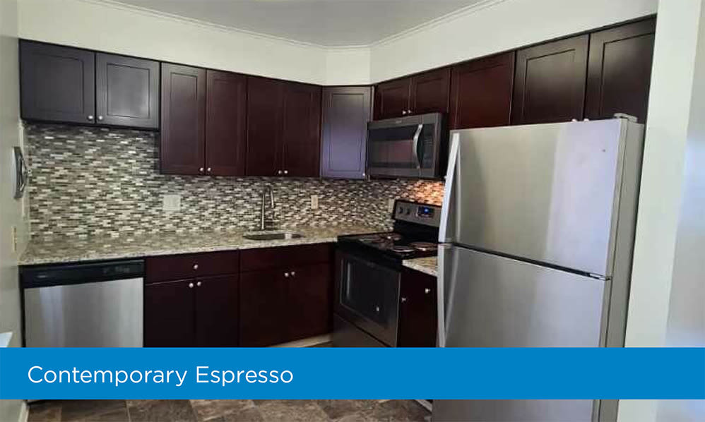 Fully-equipped kitchens at Eatoncrest Apartment Homes in Eatontown, New Jersey