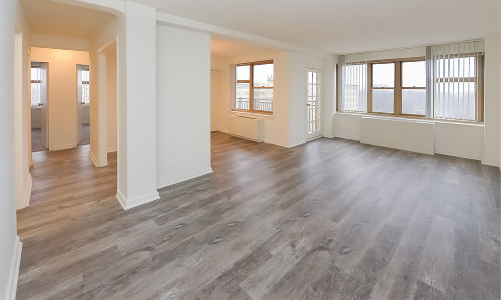 Plank flooring at Parkview at Collingswood Apartment Homes in Collingswood, New Jersey