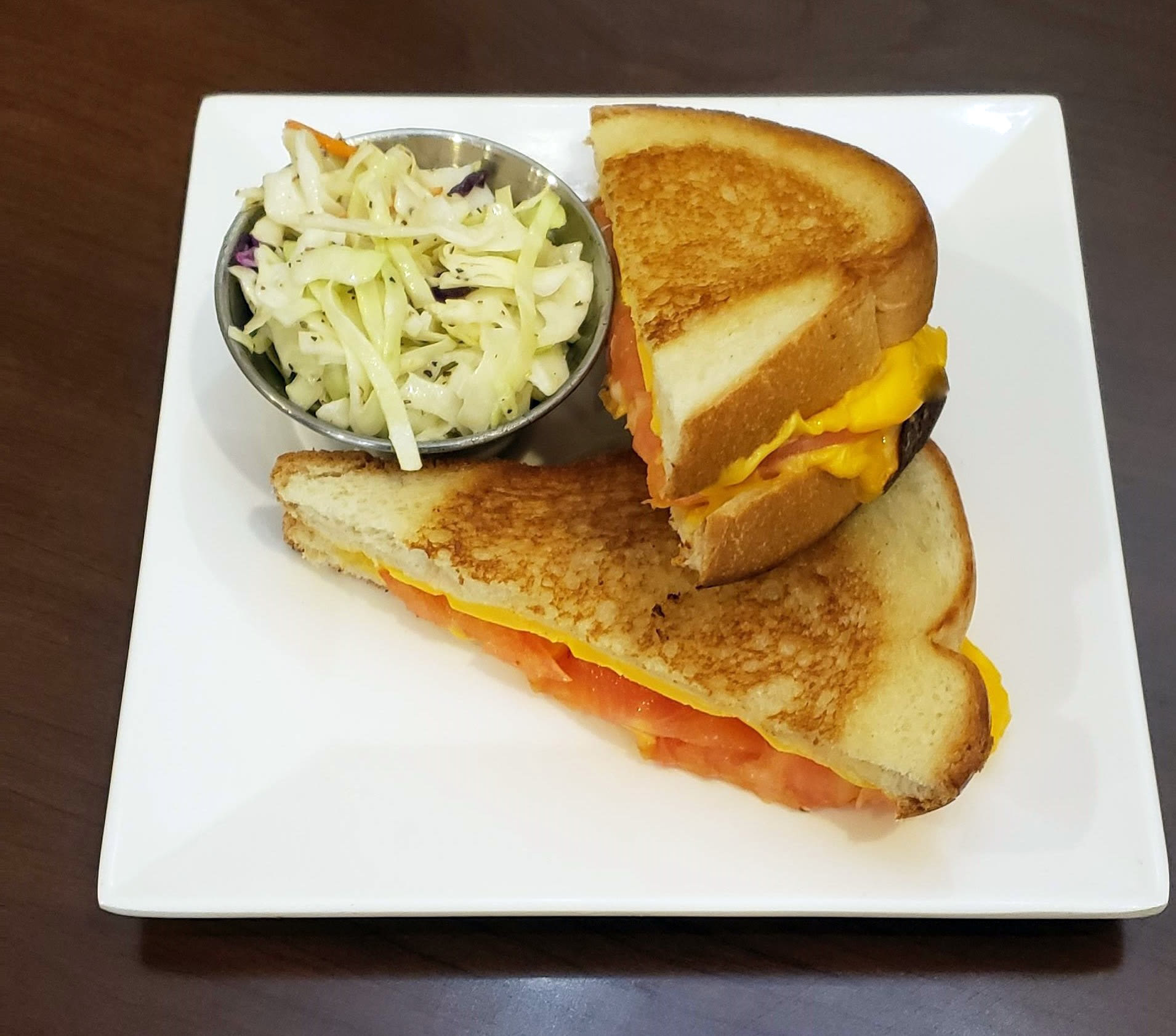Grilled Cheese Tomato Sandwich at Blossom Vale Senior Living