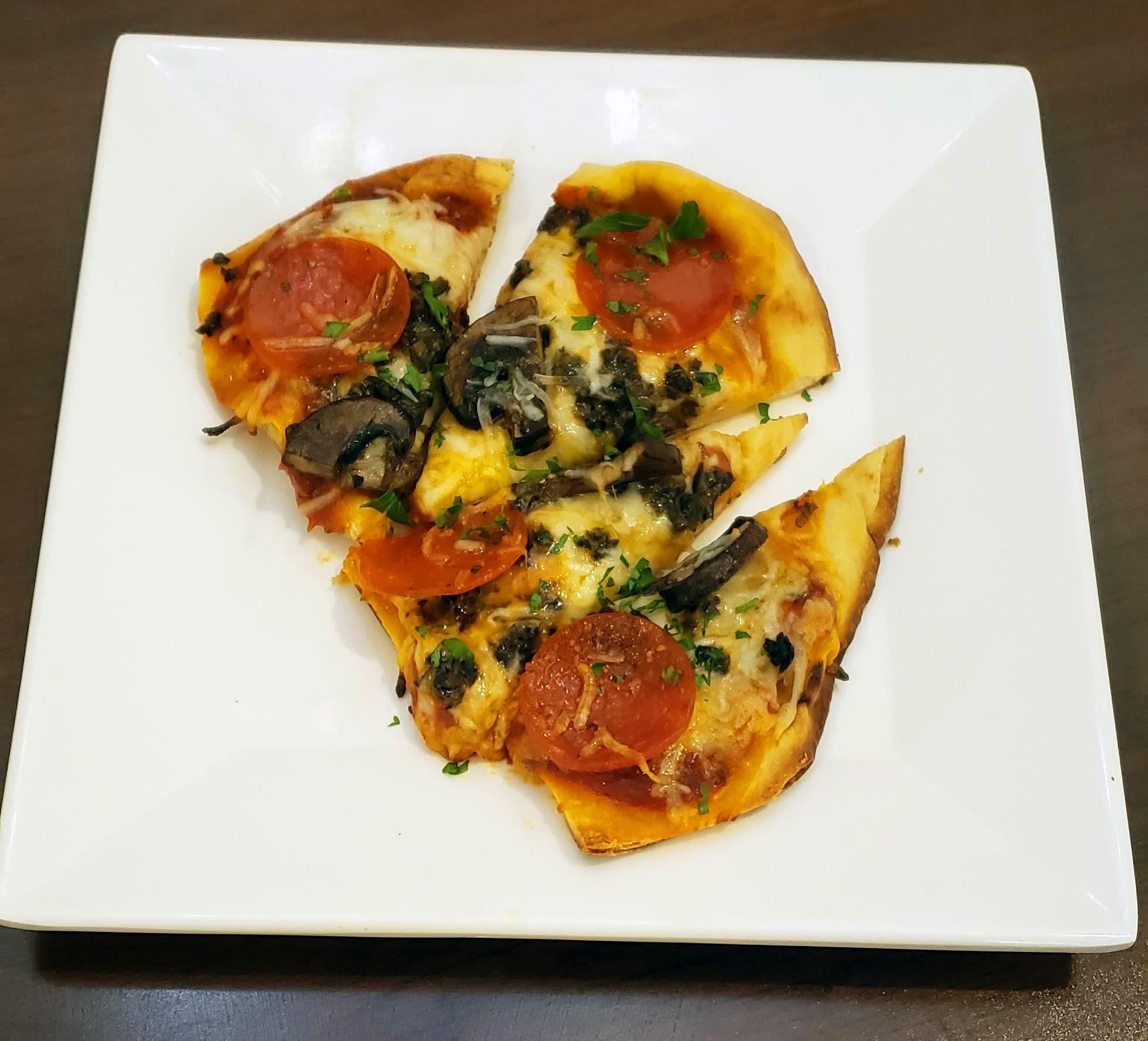 Peperoni, Olive and Mushroom Pizza at Blossom Vale Senior Living