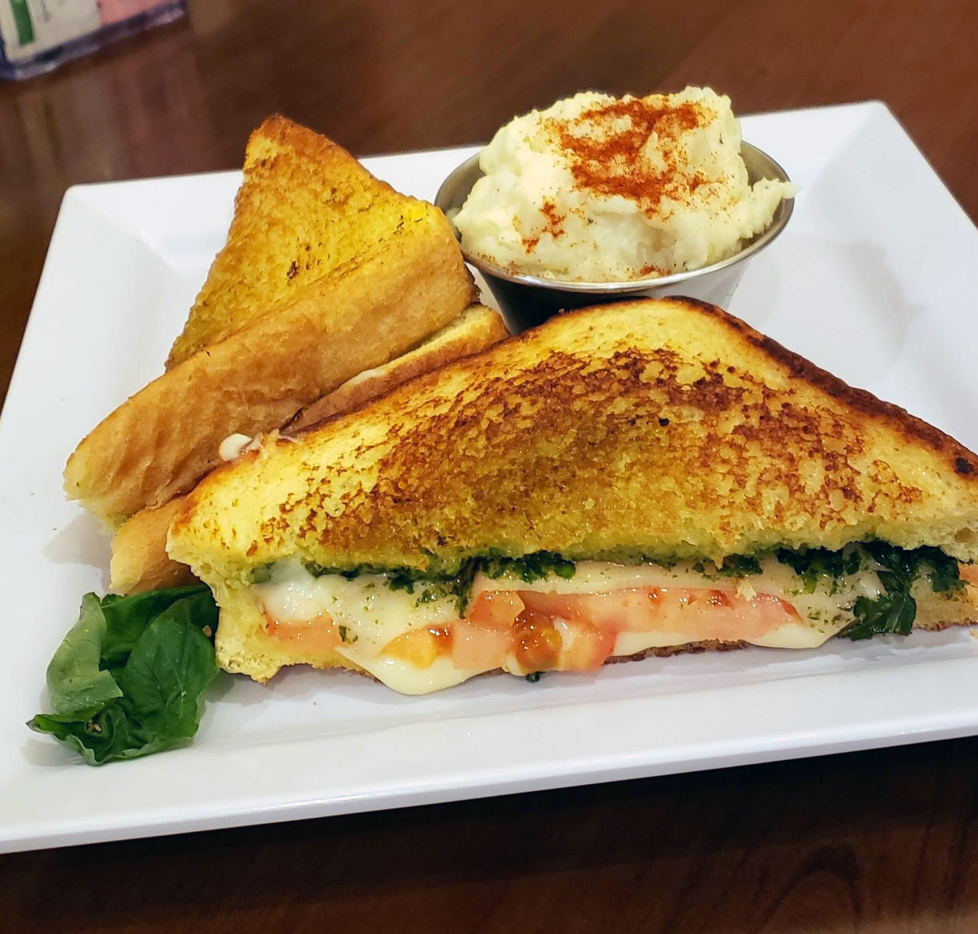 Pesto Grilled Cheese Sandwich at Blossom Vale Senior Living