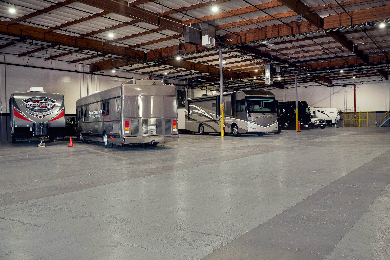 Interior RV parking at Stor'em Self Storage