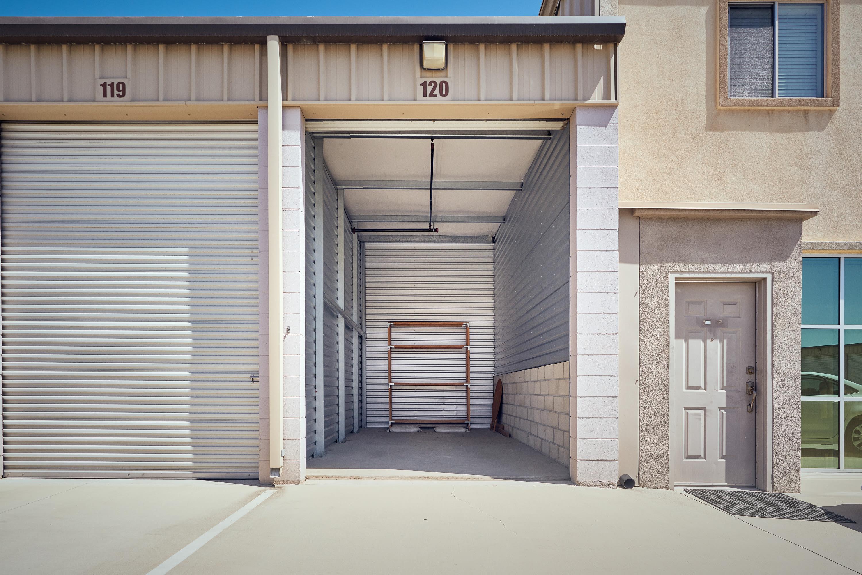 Inside a storage unit at Stor'em Self Storage