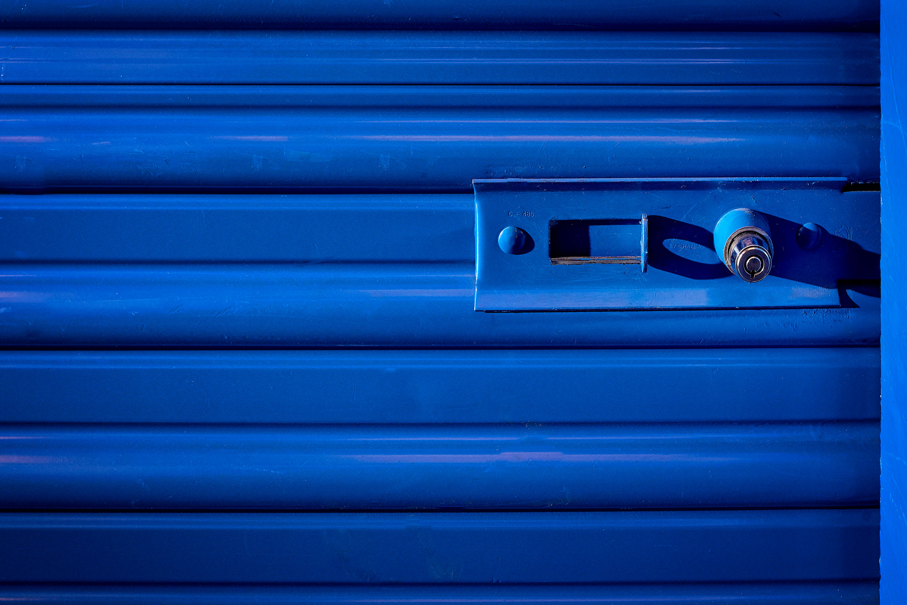 Bright lock at Stor'em Self Storage in San Diego, California