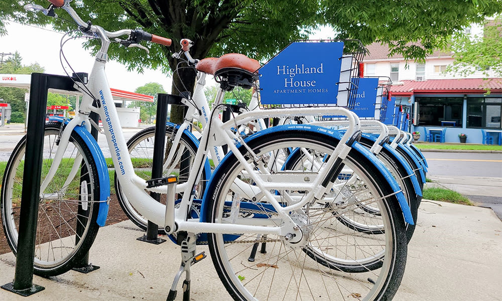 Free bike share at Harper House Apartment Homes in Highland Park, NJ
