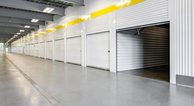 Climate-controlled units at Metro Self Storage in Coon Rapids, Minnesota