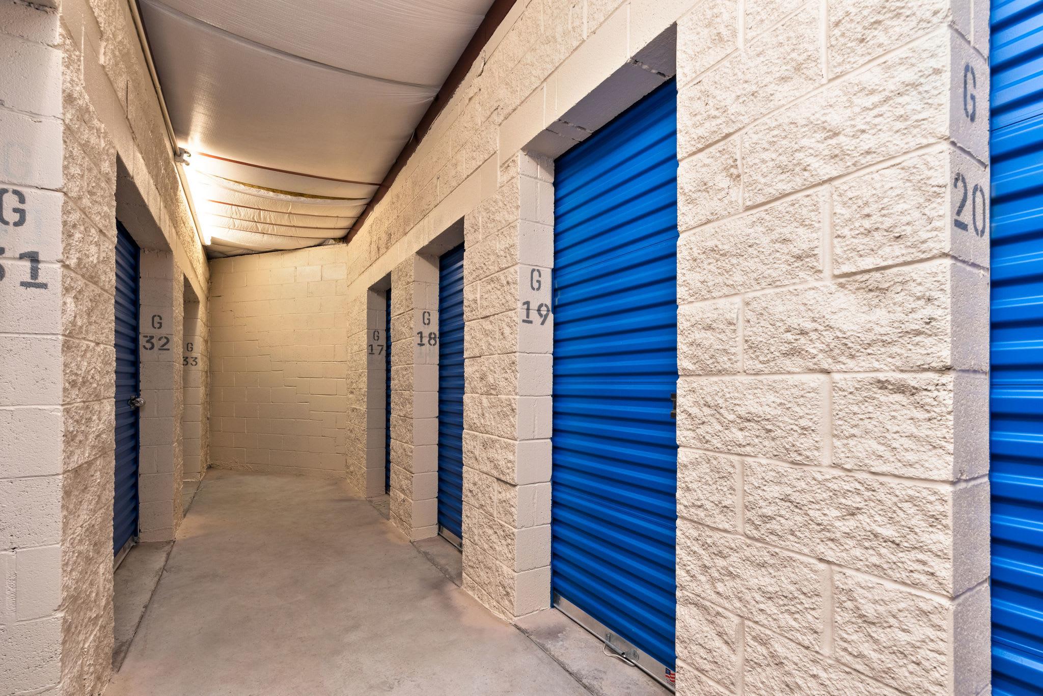 Storage units hallways closed at Stor'em Self Storage in Lehi, Utah