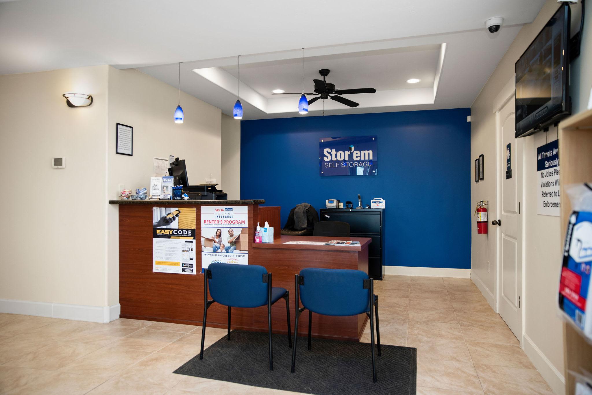 Office at Stor'em Self Storage in Magna, Utah