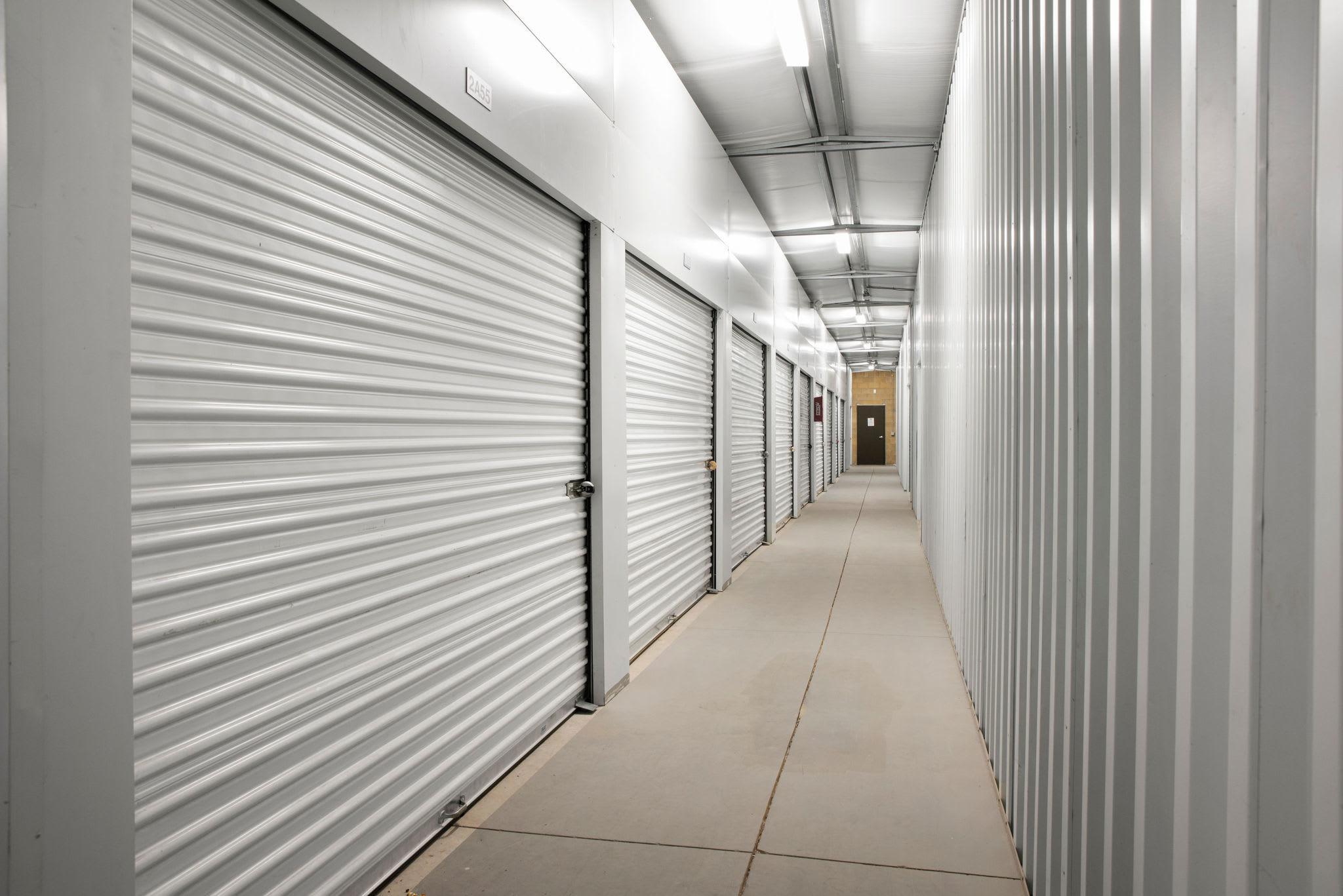 Hallways of units at Stor'em Self Storage in Magna, Utah