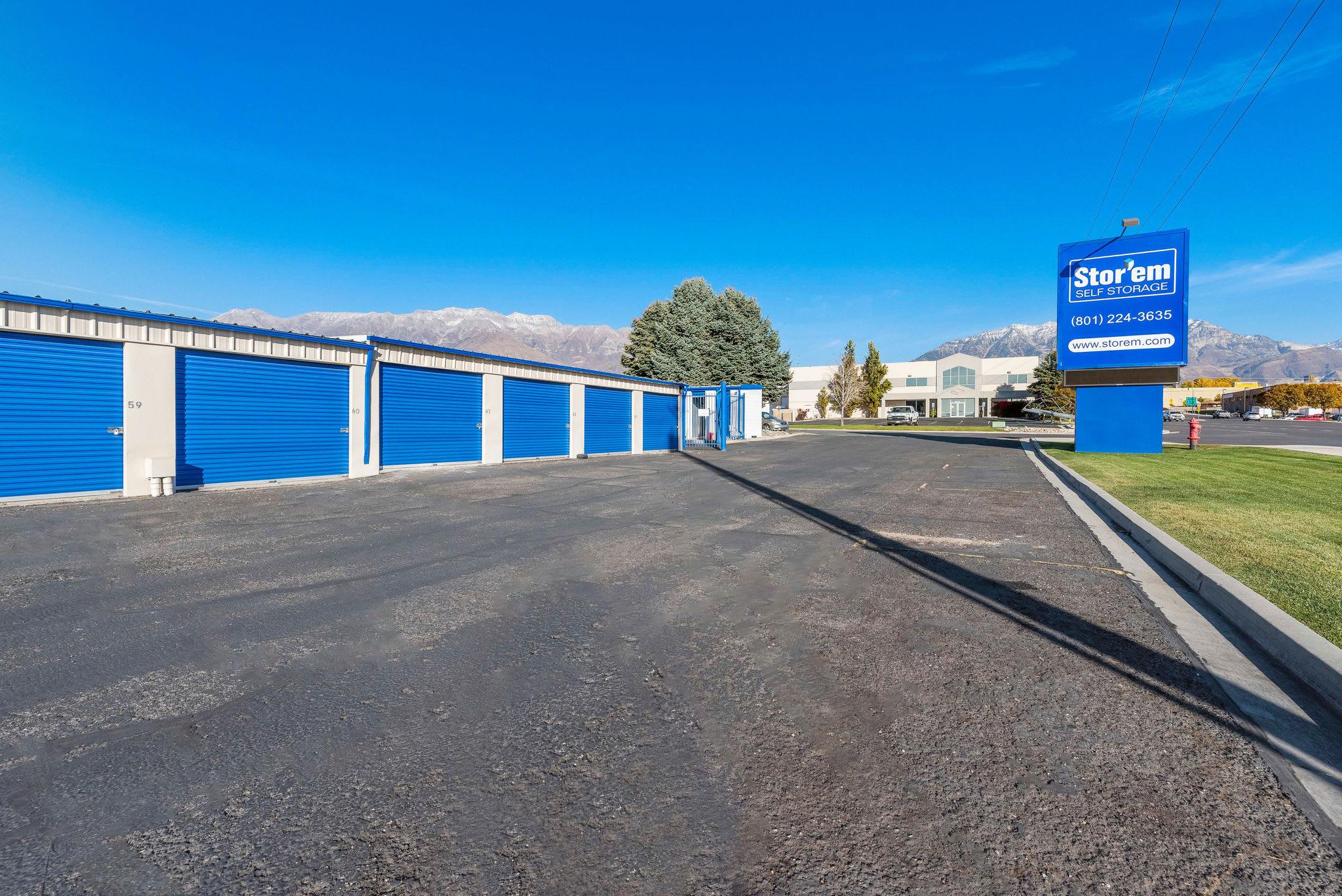 Driveway at Stor'em Self Storage in Orem, Utah