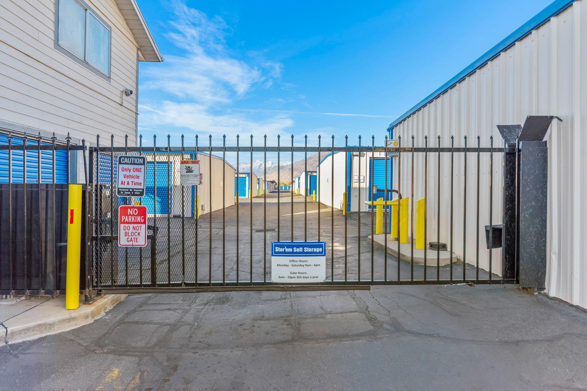 Gaet access at Stor'em Self Storage in Orem, Utah