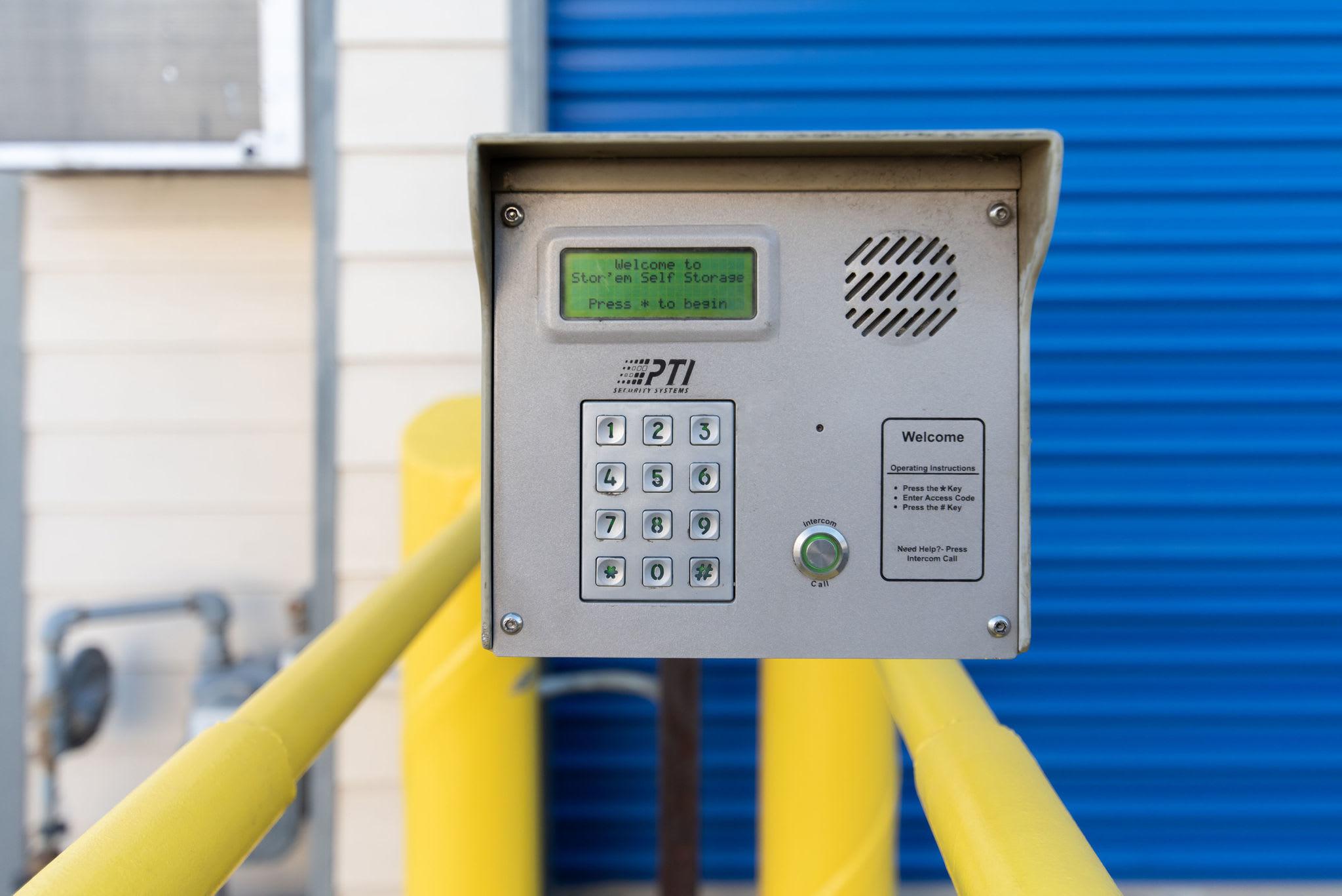 Keypad access at Stor'em Self Storage in Orem, Utah