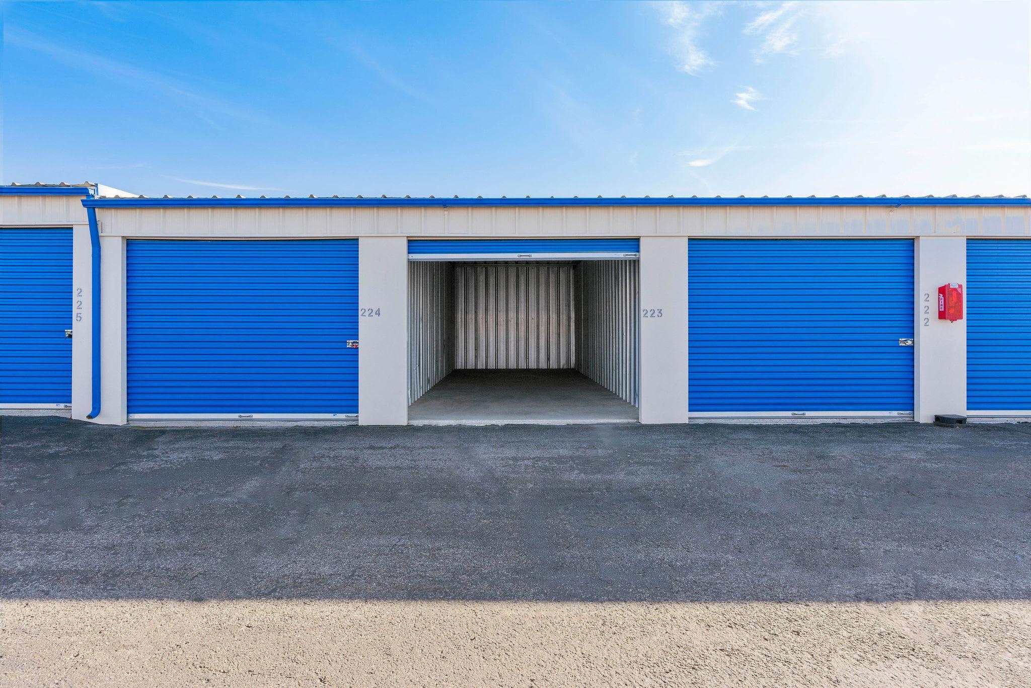 Drive up storage open unit at Stor'em Self Storage in Orem, Utah