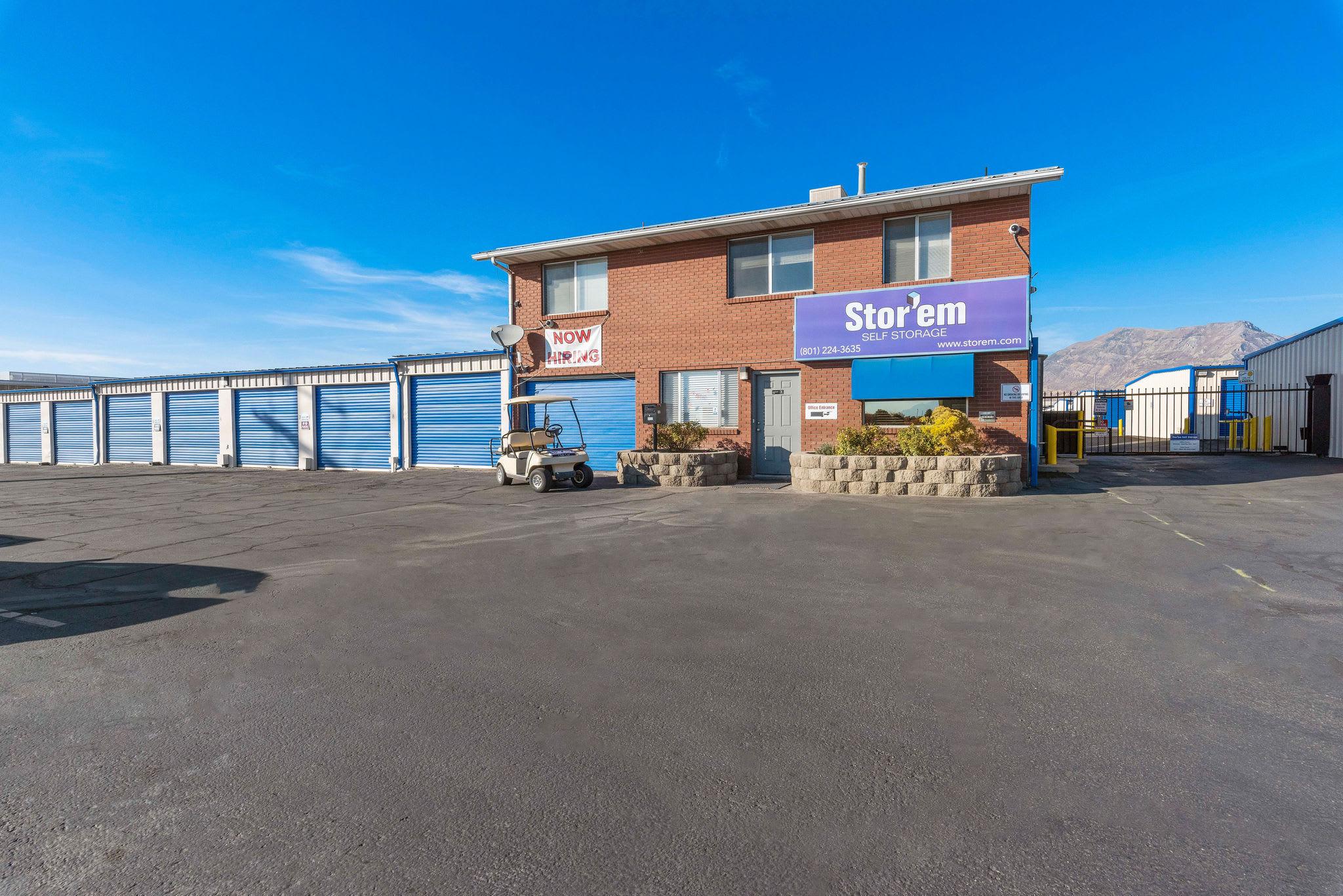 The front of the building at Stor'em Self Storage in Orem, Utah