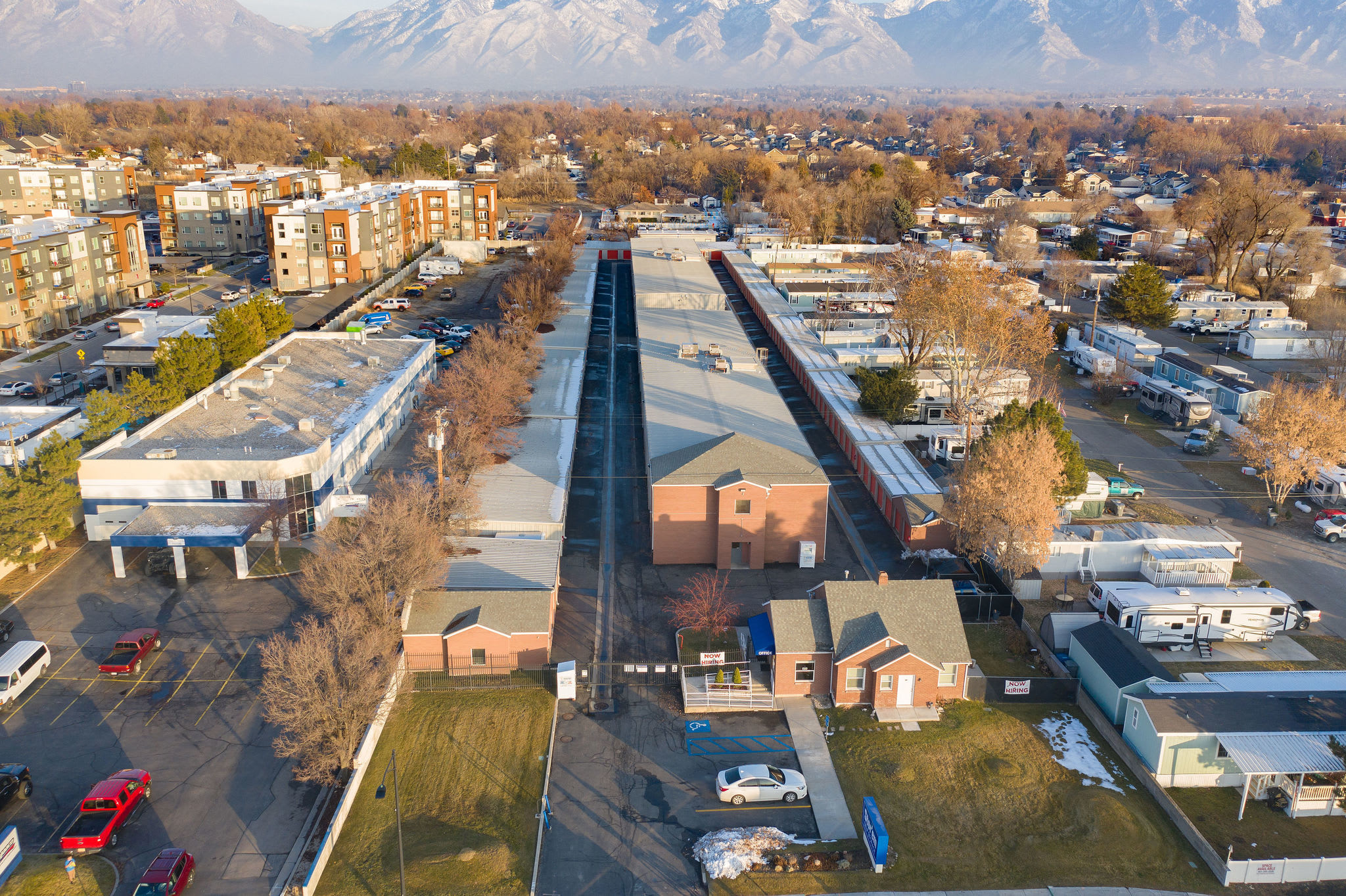 Aerial view at Stor'em Self Storage in Sandy, Utah