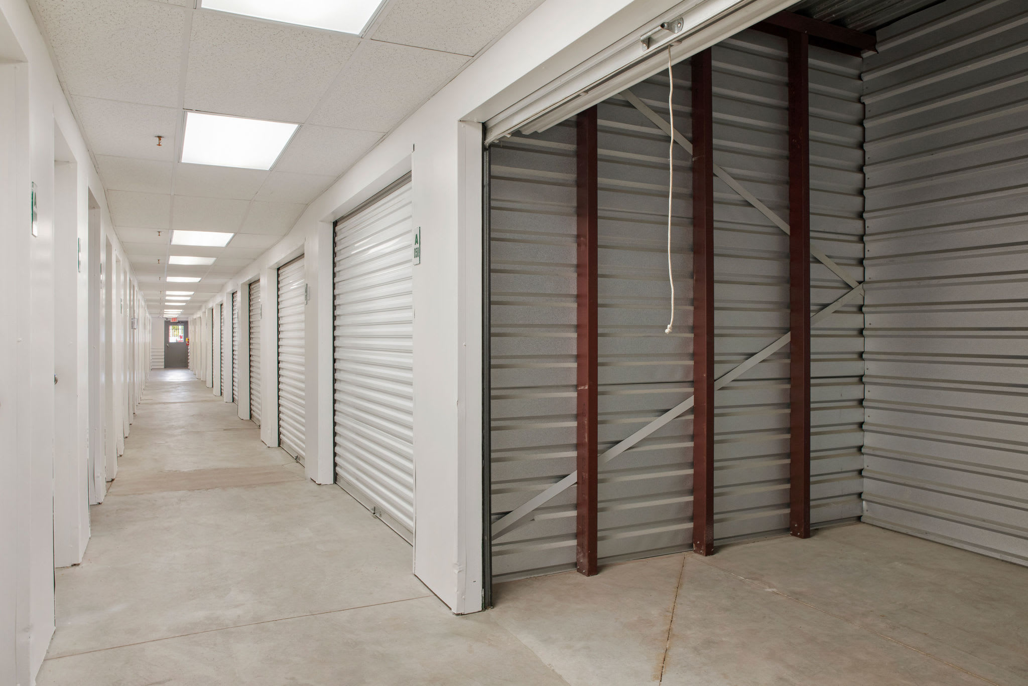 Interior storage units at Stor'em Self Storage in Sandy, Utah