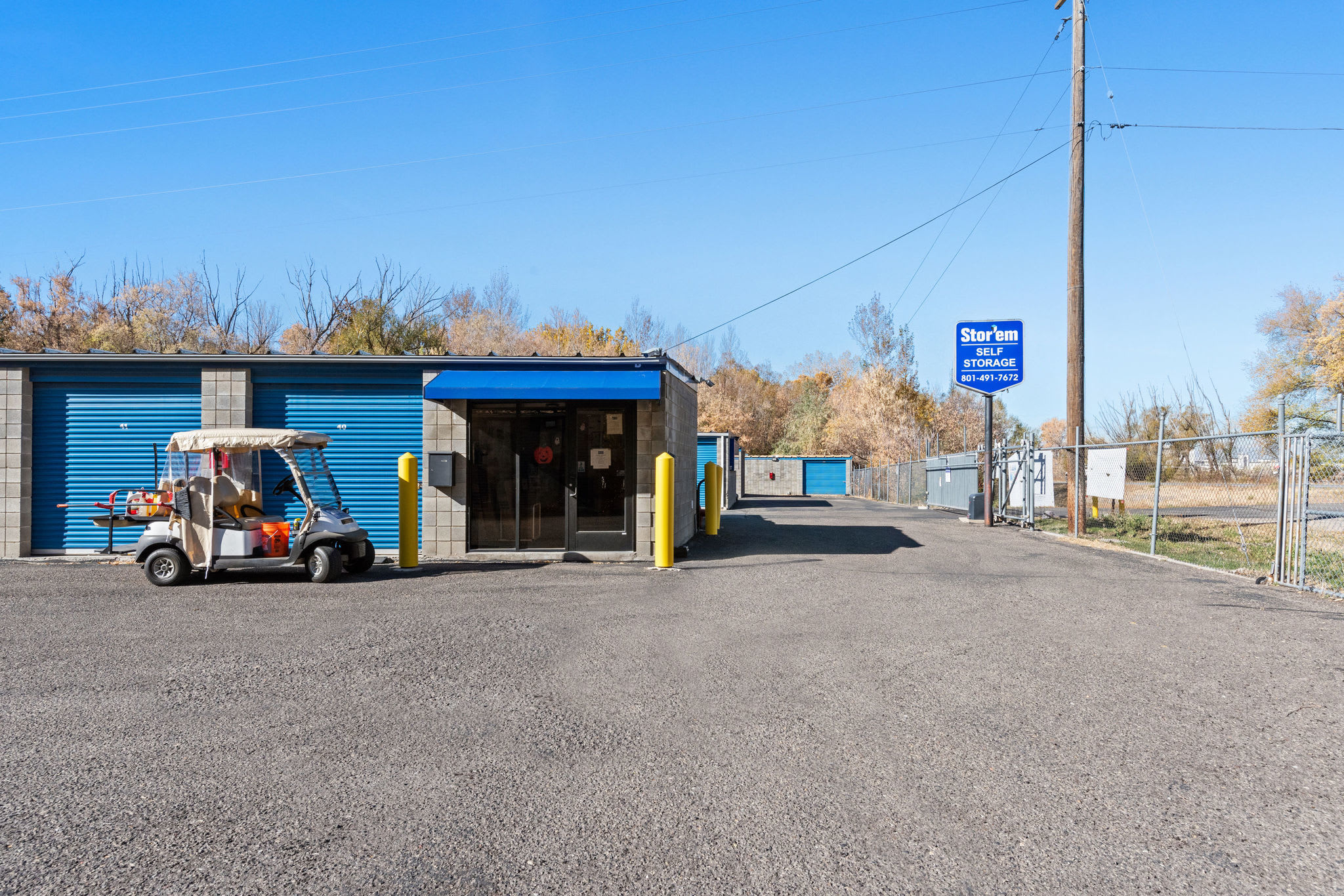 Exterior storage units for rent at Stor'em Self Storage in Springville, Utah