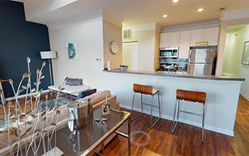 Virtual tour of a model apartment at The Docks Apartments & Townhomes in Pittsburgh, Pennsylvania