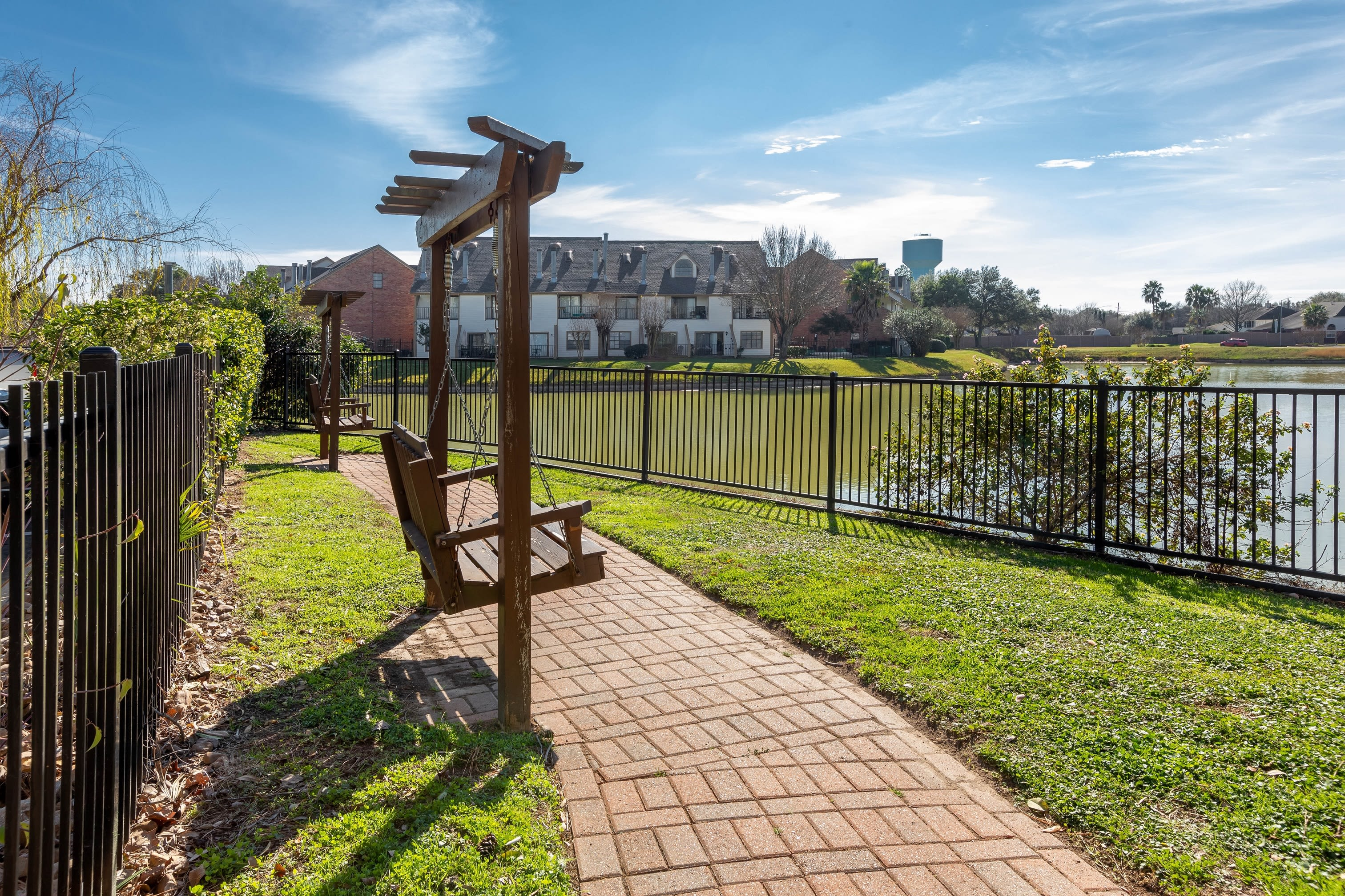 Gorgeous lakefront views and scenic walking paths at Lakefront Villas