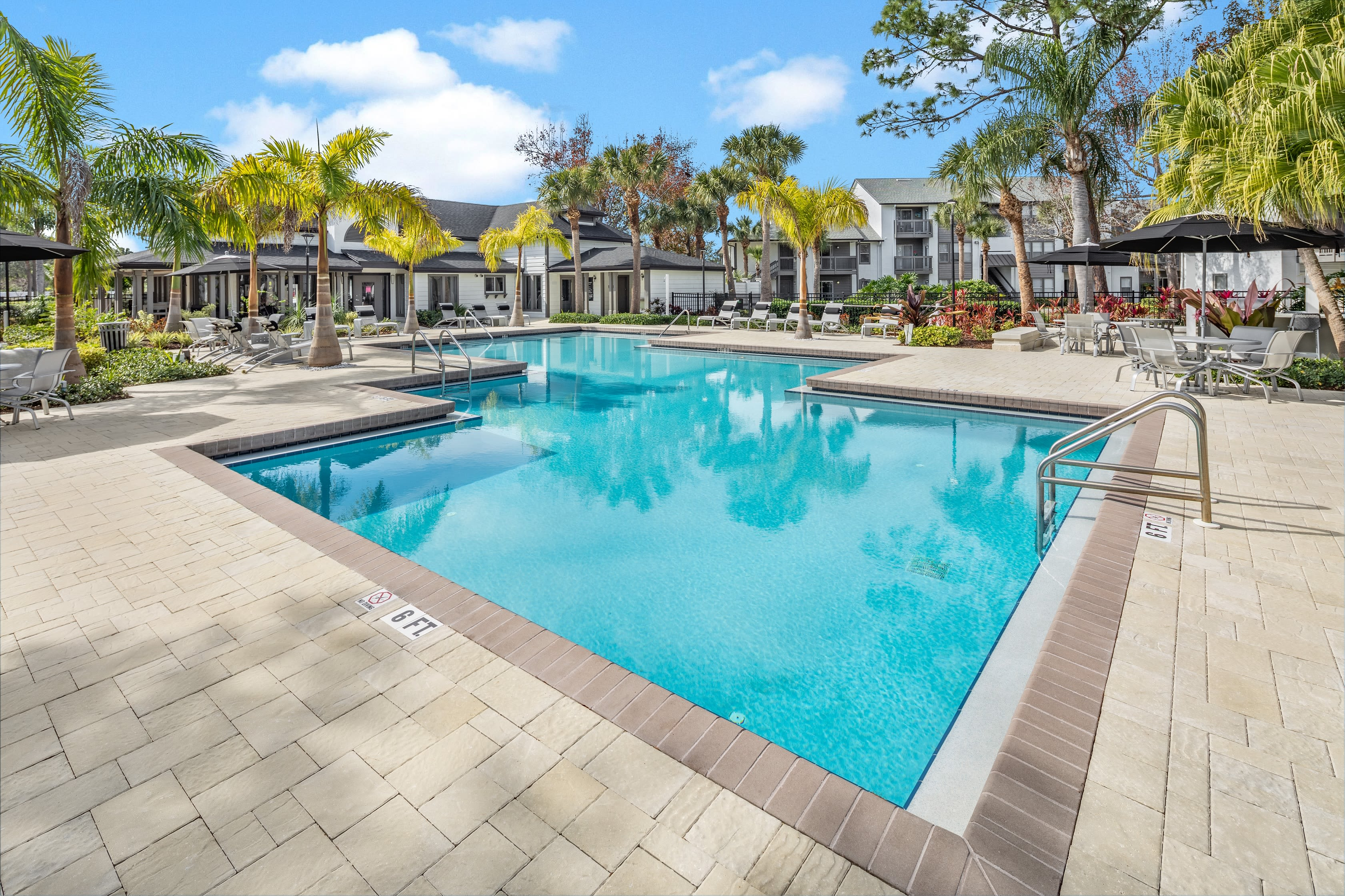 Renovated pool at The Braxton in Palm Bay, FL